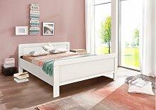 Stylefy Clara Massivholzbett Weiß