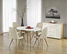Stylefy Edward Esszimmertisch Weiß Eiche