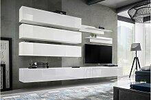 Stylefy Fli J1 Wohnwand Weiß Matt | Weiß