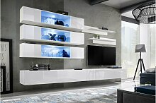 Stylefy Fli J3 Wohnwand Weiß Matt   Weiß