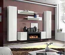 Stylefy Fli M1 Wohnwand Weiß Matt Weiß