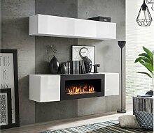 Stylefy Fli N1 Wohnwand Weiß