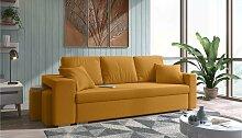 Stylefy Funes Einzelsofa Gelb Strukturstoff