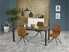 Stylefy Horizon Esszimmertisch Grau Schwarz