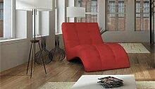 Stylefy LAGUNA Liege 76x170x83 cm Rot