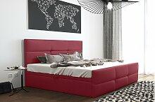 Stylefy Olomana Polsterbett Velours 200x200 cm