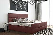 Stylefy Olomana Polsterbett Velours 200x200 cm Rosa