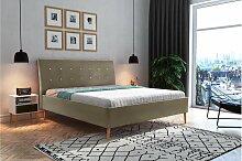 Stylefy Pasquale Polsterbett Kunstleder 200x200 cm
