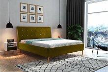 Stylefy Pasquale Polsterbett Webstoff 200x200 cm