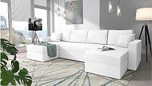 Stylefy Rubicon Wohnlandschaft Kunstleder Weiß
