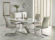 Stylefy Sandor II Ausziehtisch Grau Weiß