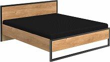 Stylefy Sydney Doppelbett Plankeneiche