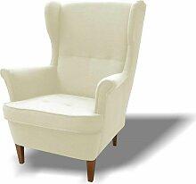 Stylefy Wood Sessel Strukturstoff 82x100x92 Beige