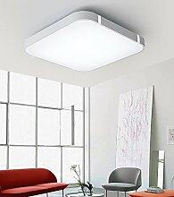 Stylehome® 24W Silber LED Deckenlampe Küchenlampen 3000-6000K volldimmbar mit Farbwechselfunktion I7 450*450mm