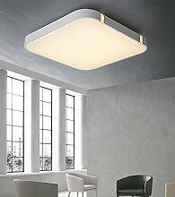 Stylehome® 24W Weiss LED Deckenlampe Küchenlampen 3000-6000K volldimmbar mit Farbwechselfunktion I7 450*450mm