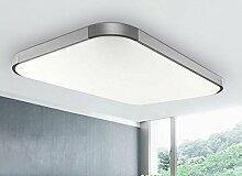 Stylehome® 27W LED Deckenlampe Wandlampe von 5501/5503 dimmbar/nicht dimmbar mit /ohneFernbedienung (5501 Silber 27W Ohne Fernbeidnung)