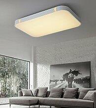 Stylehome® 32W Silber LED Deckenlampe Küchenlampen 3000-6000K volldimmbar mit Farbwechselfunktion I7 650*430mm