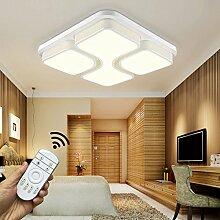 Stylehome LED Deckenlampe 6908F 36W voll dimmbar mit Fernbedienung Weiss