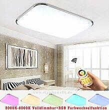 Stylehome®RGB 30W LED Deckenlampe Küchenlampen 6310-30W Silber 3000-6000K volldimmbar mit Farbwechselfunktion