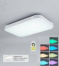 Stylehome® Silber 32W RGB LED Deckenlampe Küchenlampen 3000-6000K volldimmbar mit Farbwechselfunktion I7 650*430mm
