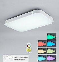 Stylehome® Silber 80W RGB LED Deckenlampe Küchenlampen 3000-6000K volldimmbar mit Farbwechselfunktion I7 920*650mm