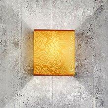 Stylische Wandlampe Loft Design Beige Stoff Schirm