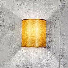 Stylische Wandlampe Loft Design Taupe Stoff Schirm