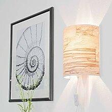Stylische Wandlampe Stecker Schirm aus Tapete in