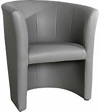 Stylischer Cocktailsessel ART DECO graphit Sessel Polstersessel Clubsessel Wohnzimmer Fernsehsessel