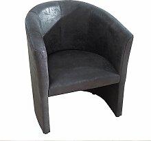Stylischer Cocktailsessel ART DECO Vintage grau Sessel Polstersessel Wohnzimmersessel Wohnzimmer Clubsessel