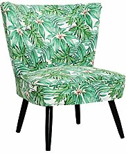 Stylischer Retrosessel SIXTIES PARADISE Retro 60er Sessel Polstersessel Wohnzimmersessel Blumen Palmen
