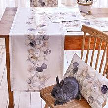Stylischer Tischläufer mit fotorealistischen