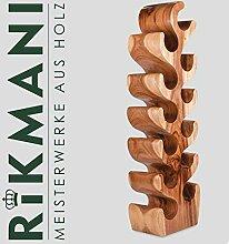 Stylischer Weinregal - Deko Weinständer aus Holz