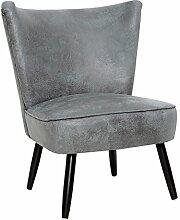 Stylisher Retrosessel SIXTIES antik grau Polstersessel Retro 60er Sessel Wohnzimmersessel
