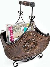 Stylla London Designer Handgefertigt Magazin Rack