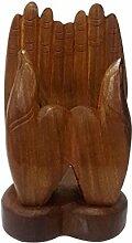 Stylla London Handyhalter aus Holz, Handform,