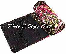 Stylo Culture Indische Tagesdecke Gesteppt Kantha