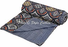 Stylo Culture Indische Tagesdecke Kantha Baumwolle