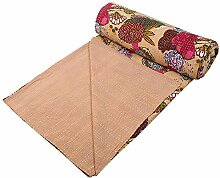 Stylo Culture Indische Tagesdecke Kantha