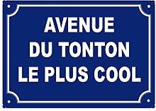 Stylx Design Fun-Schild Avenue du Tonton Le Plus