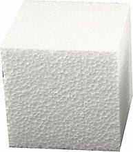 Styropor-Würfel-Set 15 x 15 x 15 cm groß ✓ Insgesamt 2 Stück | Styroporartikel sind blanko weiß Form quadratisch / quadrat ✓ Dekowürfel Wohnzimmer Dekoration Frühling-Deko | trendmarkt24 - 1834151
