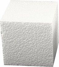 Styropor-Würfel-Set 29 x 29 x 29 cm groß ✓ Insgesamt 1 Stück | Styroporartikel sind blanko weiß Form quadratisch / quadrat ✓ Dekowürfel Wohnzimmer Dekoration Frühling-Deko | trendmarkt24 - 183429