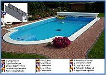 Styroporbecken halboval 3,50m x 7,00m x 1,50m Folie 0,8mm ohne Filter Pool Pools Halbovalbecken Halbovalpool Styroporschwimmbecken