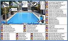 Styroporbecken Mega Set rechteck 3,00m x 6,00m x 1,50m Folie 0,8mm Pool Pools Rechteckbecken Rechteckpool Styroporschwimmbecken