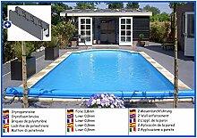 Styroporbecken rechteck 3,00m x 6,00m x 1,50m Folie 0,8mm ohne Filter Pool Pools Rechteckbecken Rechteckpool Styroporschwimmbecken