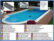 Styroporbecken Spar Set halboval 3,50m x 7,00m x