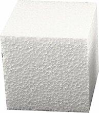 Styroporwürfel-Set 10 x 10 x 10 cm groß ✓ Insgesamt 5 Stück | Styroporartikel sind blanko ( weiß ) ideal zum basteln ✓ Form quadratisch / quadrat ✓ wird gern eingesetzt als Dekowürfel | Wohnzimmer Dekoration | Frühling-Deko zum selbstgestalten ✓ können hervorragend verziert | gebastelt | bemalt & dekoriert werden | trendmarkt24 - 1834101