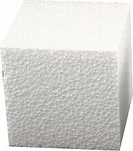 Styroporwürfel-Set 8 x 8 x 8 cm groß ✓ Insgesamt 6 Stück   Styroporartikel sind blanko ( weiß ) ideal zum basteln ✓ Form quadratisch / quadrat ✓ wird gern eingesetzt als Dekowürfel   Wohnzimmer Dekoration   Frühling-Deko zum selbstgestalten ✓ können hervorragend verziert   gebastelt   bemalt & dekoriert werden   trendmarkt24 - 1834081