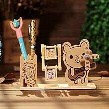 SU@DA Drei - dimensionale Windmühle Stift eingefügt Holz Heimtextilien Handwerk Spieluhr , color mix