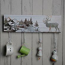 SU@DA Kreative feste Holz hängenden Coffee Shop Dekoration Hook 2St , 1
